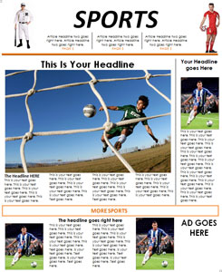 Sports Newspaper Template for Kids