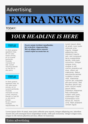 free word newspaper template